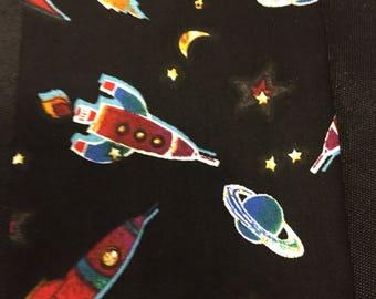Space Rockets Stars Necktie