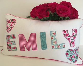 Bespoke Girls Personalised Name Cushion