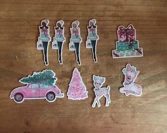 Christmas die cuts. Die cuts to decorare your planner, memory book, scrapbook or travelers notebook. Ephemera
