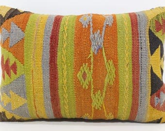 16x24 Bohemian Kilim Pillow Ethnic Pillow Sofa Pillow 16x24 Turkish Kilim Pillow Lumbar Kilim Pillow Sofa Pillow  SP4060-620
