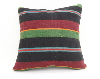 Striped Pillow 20x20 Pillows Cover İndoor Pillow  Tribal Sham Turkish Pillows Big Throw Pillows Large Cushion Cover Kilim Pillow SP5050-2658