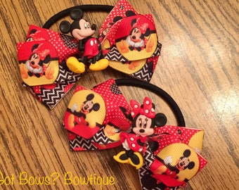 Mickey & Minnie Mouse Ponytail Holders
