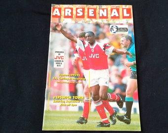 Arsenal v Ipswich Town Saturday September 11th 1993 football Programme