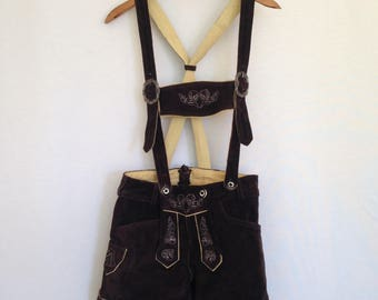 60s/70s brown leather lederhosen