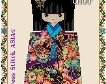 Chiyogami CHOU -Cross Stitch PDF Pattern