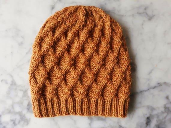 Cable knit beanie in luxury baby alpaca yarn. Handmade in Ireland. Original design. Beanie for him. Beanie for her. Alpaca beanie. Irish hat