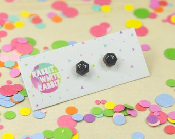 Midnight Glitter Super Mini Studs