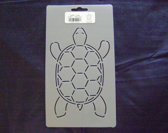 Sashiko Japanese/Traditional Embroidery/Quilting Stencil 4 in. by 6.5 in. Turtle Design Block/257