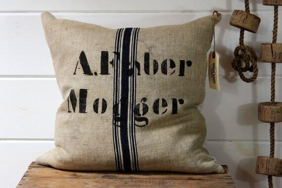German Grain Sack Pillow Cover