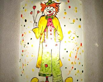 "Multicolour handcrafted wall ""clown"" / custom"