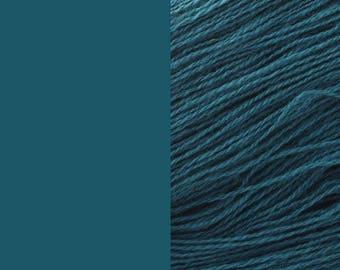 Wool Yarn, dark teal, DK, 3-ply worsted knitting yarn 8/3 100g/130m
