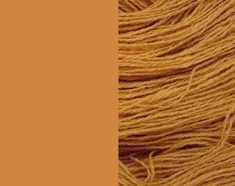 Wool Yarn, sand / ocher, DK, 3-ply worsted knitting yarn 8/3 100g/130m