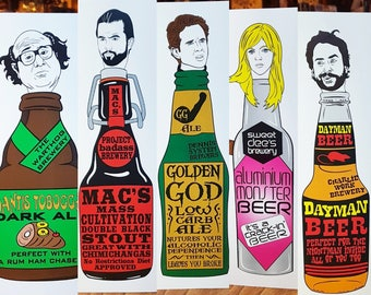 It's Always Sunny In Philadelphia.  The Gang Makes Their Own Beer.  A4 & A3 PRINT Set.  It's Always Sunny In Philadelphia.