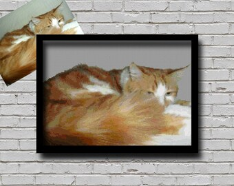 Custom Order Cross Stitch Pattern Your Pet Cat Creative Decor Personalised Printable Digital Pattern For The Crafter Custom Cat Pattern