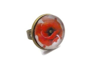 """Ring round """"Poppy"""" red and white collection"""