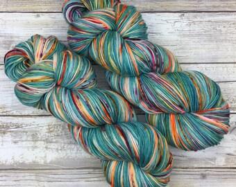 WORSTED WEIGHT | Hand Dyed Yarn | Superwash Merino Wool/Nylon Blend | 100 g. | Fruita Bomba | 4-ply