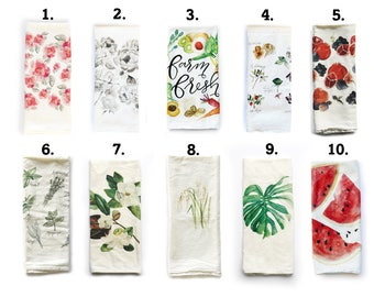 Flour Sack Towel, Mix and Match, Choose Your Designs, Flour Sack Tea Towels, Tea Towel, Flour Sack Kitchen Towels, Flour Sack Towel Set