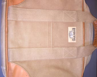 Vintage Lands End Canvas Message Bag / Lap Top Bag