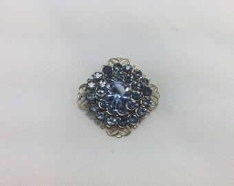 vintage 1950s blue brooch