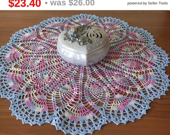 Melange cloth knitted decor table decoration pineapple doily crochet knit doily lace crochet napkins large cozy house 100% cotton .