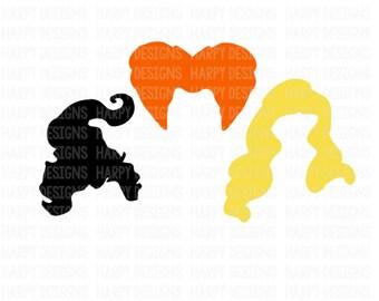 Hocus Pocus SVG, Sanderson Sisters SVG, Halloween SVG, Cricut Files, Silhouette Files
