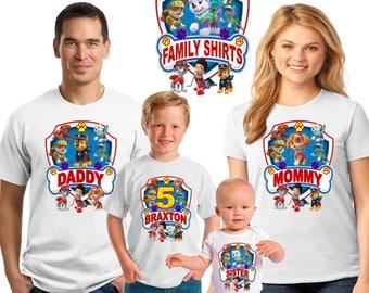 Paw Patrol Birthday shirt/Birthday boy paw patrol  shirt/ Birthday girl shirt/ birthday girl shirt/ Birthday princess shirt/ Family matching