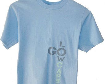 Go Low Carbon - Men's top  T shirt (M) - Organic Cotton