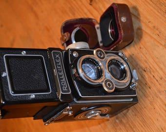 ROLLEIFLEX  SynchroCompur Fr.&Heid. Lens Zeiss Tessar 1:3,5/75mm.+2,8/75