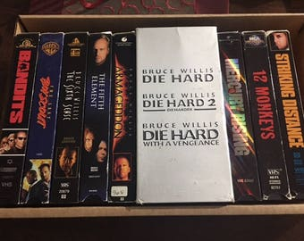 Bruce Willis VHS Video Pack