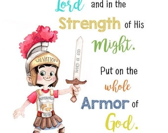 Armor of God Bible verse quote poster 8x10 digital download