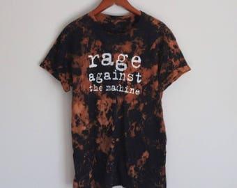 Rage Against The Machine bleach acid wash t-shirt