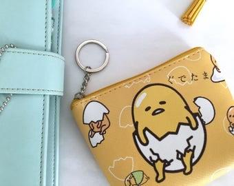 Wallet, purse pattern gudetama, coin purse Gudetama Gudetama wallet