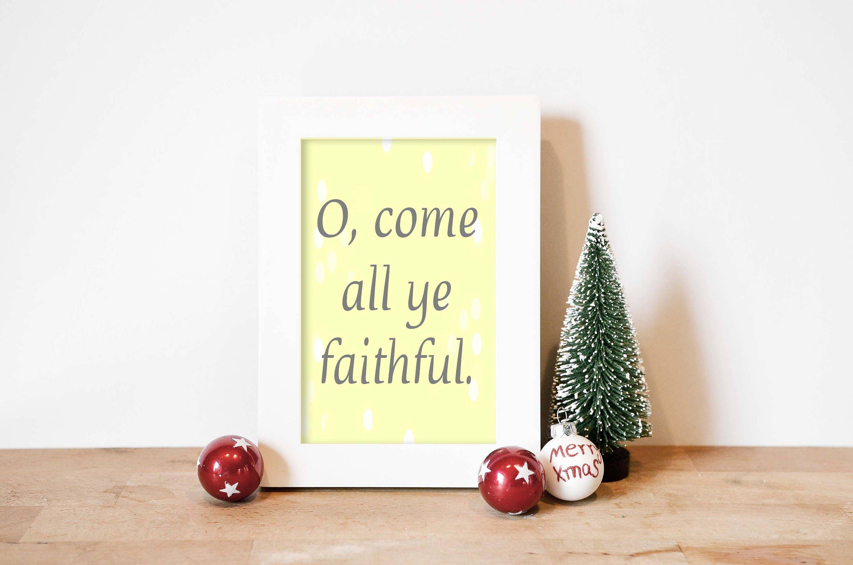 Christmas Word Art Print, Christmas Home Decor, Christmas Wall Art ...