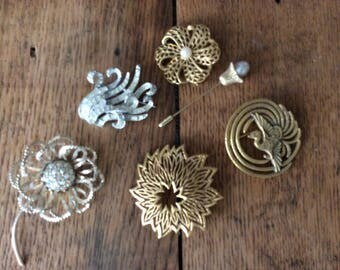 Vintage Pins (Brooches) - Collection Of 6