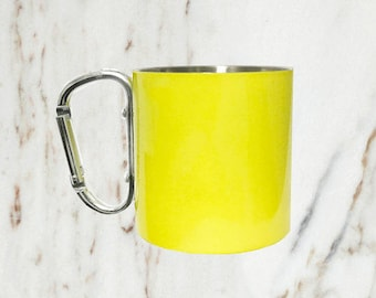 8 oz Stainless Steel Camping Cup, Yellow