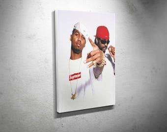 Supreme Dipset Juelz Santana Jim Jones Stretched canvas art print ready to hang