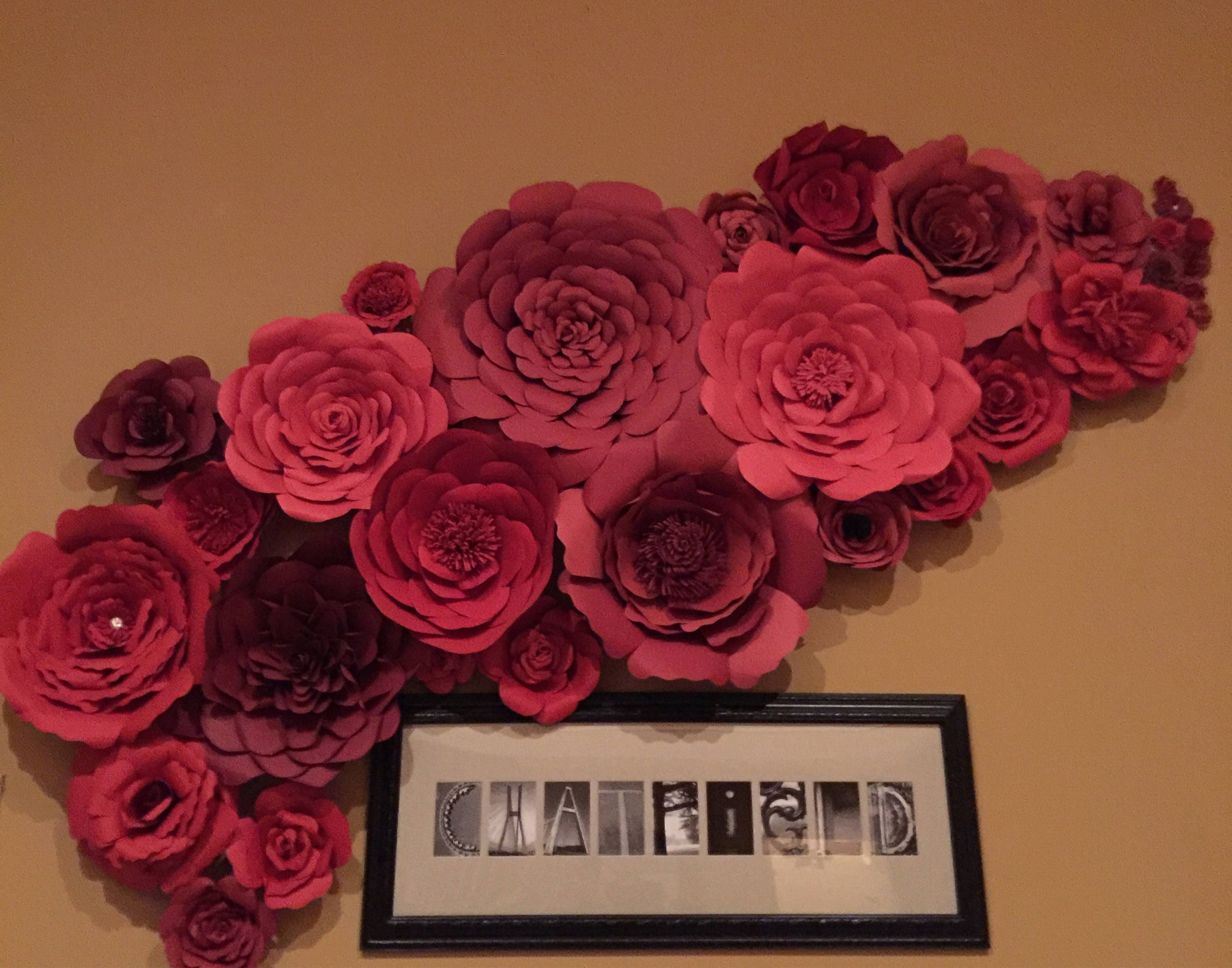 Paper Wall Flower Decor Cardstock Flower Paper Decoration