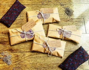 Handmade Organic Lavender and Flaxseed Eye Pillows