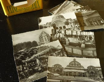 Bag of 10 mini pictures/old postcards - Photos real VICHY - France-