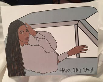 Happy  Bey-Day- Beyonce Greeting Card