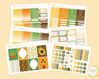 Sunflower Weekly Kit, Erin Condren Life Planner, Happy Planner, Filofax, Mambi, Sunflower Planner Stickers, Sunflower Stickers