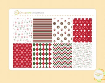 Christmas Full Box Stickers, Christmas Planner Stickers, Erin Condren Life Planner, Happy Planner, Filofax
