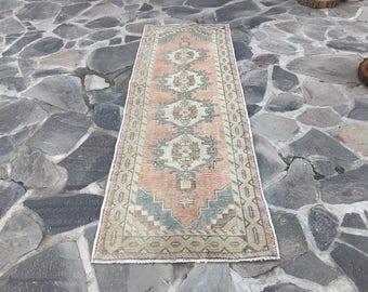 turkısh runner rug  3x9.1 Ft turkısh rugs,anatolia rug,bohemian rug,oushak runner rug,handwoven rug vintage runner,runner rug,oushak rug