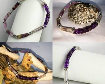 """Bracelet """"Fluorite & Amethyst"""""""
