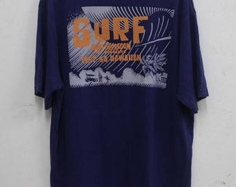20% OFF Vintage  Sunsurf Honolulu Hawaii Surf T shirt Made in USA Rare