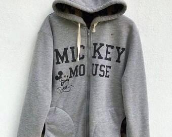20% OFF Vintage Mickey Mouse Sweater Hoodie Walt Disney Sweater Mickey Mouse Sweater Cartoon Sweatshirt Anime shirt Medium