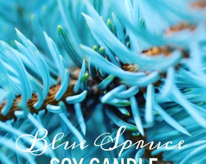 8oz mason jar blue spruce soy candle
