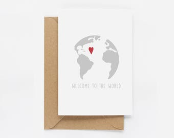 Welcome To The World New Baby Card,
