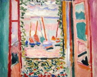 Open Window Collioure by Henri Matisse - Poster A3 or A4 Matt, Glossy or Art Canvas Paper