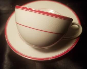 Ralph Lauren Red Pagoda Tea Cup and Saucer